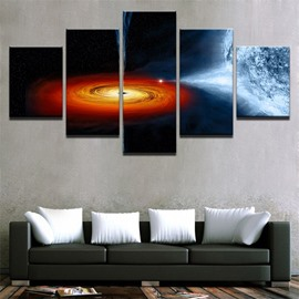 Galaxy Pattern 5 Pieces Hanging Canvas Waterproof Eco-friendly Framed Wall Prints