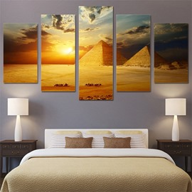 Pyramid View 5 Pieces Hanging Canvas Waterproof Eco-friendly Framed Wall Prints
