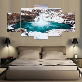 Iceberg Pattern 5 Pieces Hanging Canvas Waterproof Eco-friendly Framed Wall Prints