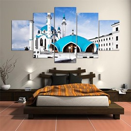 Dreamlike Architecture Pattern 5 Pieces Hanging Canvas Waterproof Eco-friendly Framed Wall Prints