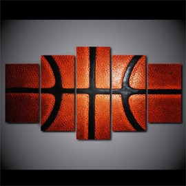 5 Pieces Hanging Canvas Classic Basketball Pattern Waterproof Eco-friendly Framed Wall Prints