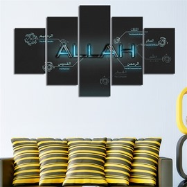 Creative Abstract Pattern 5 Pieces Hanging Canvas Waterproof Eco-friendly Framed Wall Prints
