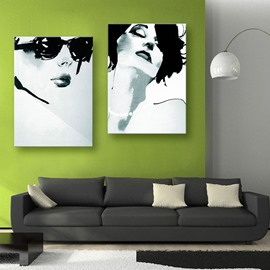 Sexy Women Spray Painting Natural Scenery Modern Print Wall Decorations with Frame