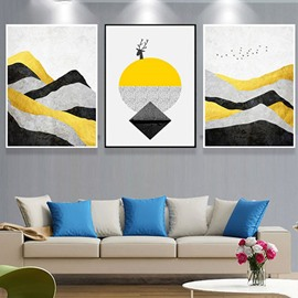 Abstract Mountain in Daytime Canvas Prints Wall Art Paintings Abstract Geometry Wall Artworks Pictures for Living Room Bedroom Decoration