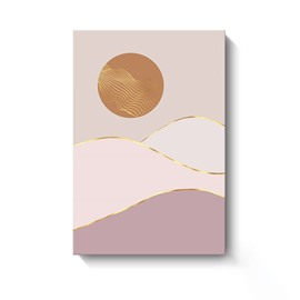 Modern Moon and Sun Spray Painting Simple Nordic Style Wall Decorative Non-Framed Prints