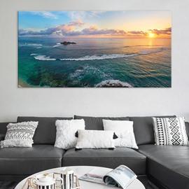 Sunrise Seascape Waterproof Non-framed Prints Scenery of Ocean Canvas Wall Art Paintings