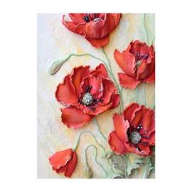 Flowers Waterproof Modern Non-framed Prints Wall Art Painting for Bathroom Living Room Office