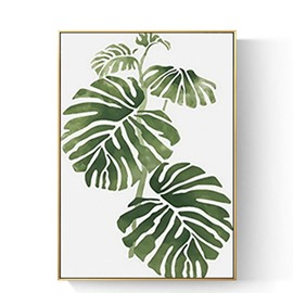 Modern Simple Green Plant Framed Prints Hanging Picture Wall Art Living Room Decoration Painting Sofa Background Wall Abstract Painting