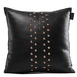New Arrival Dashing Rivets Leather Throw Pillow Case