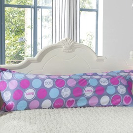 Attractive Colored Circles Pattern Bed Pillowcase for a Couple