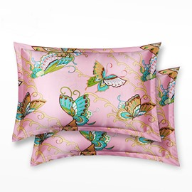 Beautiful Butterfly Printed Mulberry Silk Skincare Pillowcase