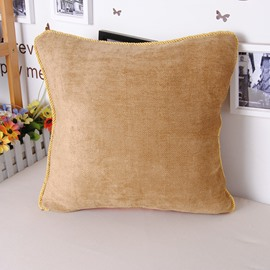 Super Cozy Chenille Solid Color Throw Pillowcase