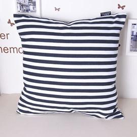 Faddish Modern Zebra-stripe 100% Cotton Throw Pillowcase