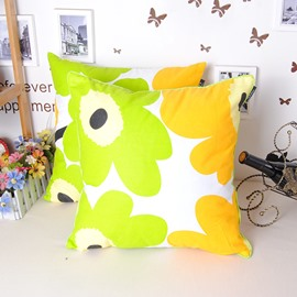 Classy Sunflower Printing Soft Cotton Throw Pillowcase