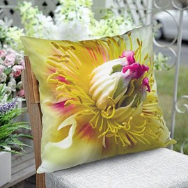 3D Floral Print Plush Throw Pillow Case