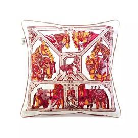 Granny-Chic War-Horses PaintThrow Pillow