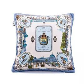 Elegant British Style Throw Pillow