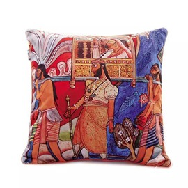 Special India Noble Paint Throw Pillow