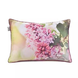 Sweet Pink Flowers Paint Throw Pillow