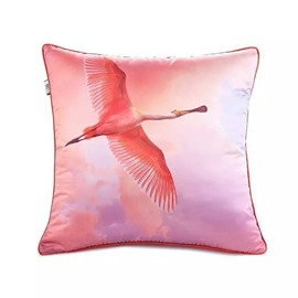 Wild Geese Fly in the Sky Paint Throw Pillow