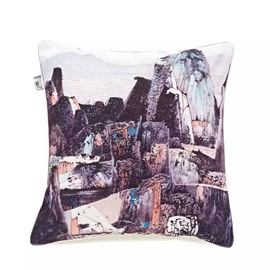 Beautiful Mountains Paint Throw Pillow