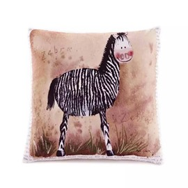 Cartoon Zebra Paint Throw Pillow Case