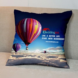 Beddinginn Signature Fire Balloon Patterned Tencel Throw Pillowcase