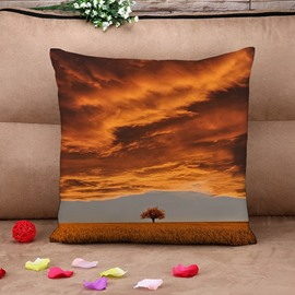 Magnificent Natural Scenery Auburn Tree Cotton Throw Pillow Case