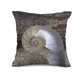 New Style Fancy Snail Shell 3D Print Throw Pillow Case