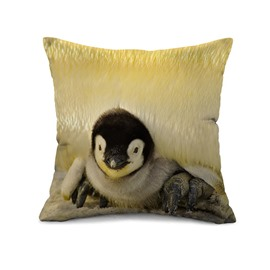 Lovely Penguin Baby Print Throw Pillow Case