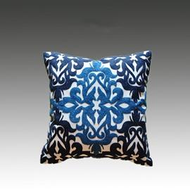 Special Design Beautiful Pattern Blue Cotton Throw Pillowcase