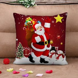 Classic Santa Claus Print Throw Pillow Case