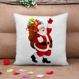 Lovely Santa Claus Print Throw Pillow Case