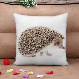 Unique Hedgehog Print Square Throw Pillow Case