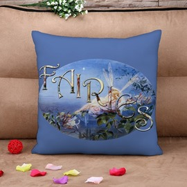 Fancy Fairies Reactive Printing Throw Pillow Case