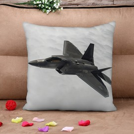Chic Combat Aircraft Print Throw Pillow Case
