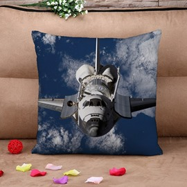 Unique Combat Aircraft Print Throw Pillow Case