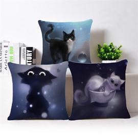 Sexy Kitty Print Square Throw Pillow Case