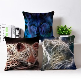 Unique Design Personalized 3D Animal Print Throw Pillow Case