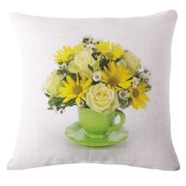 Gorgeous Saucer Arrangement Print Square Throw Pillowcase