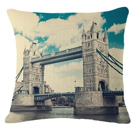 Magnificent London Tower Bridge Print Throw Pillowcase