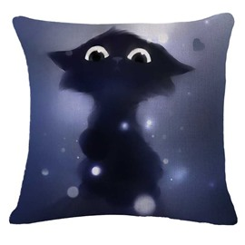 Lovely Halloween Cat Print Square Throw Pillowcase