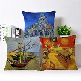 Beautiful Warm Tones Design Square Throw Pillowcase