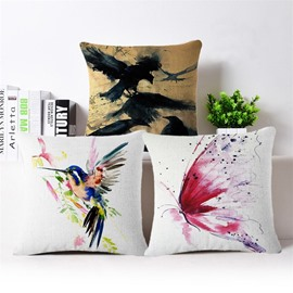 Artistic Animal Design PP Cotton Square Throw Pillowcase