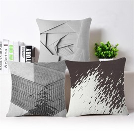 Amazing Modern Style PP Cotton Square Throw Pillowcase