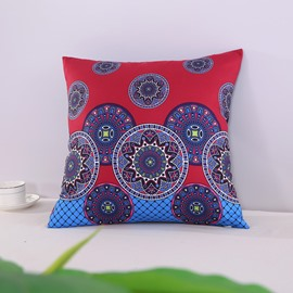 Chic Mandala Pattern Exotic Style Blue Decorative Square Polyester Throw Pillowcases