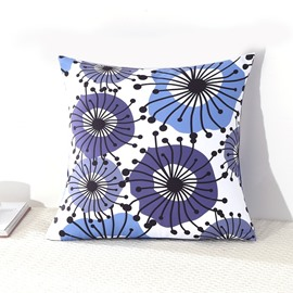 Flying Dandelion Decorative Square Polyester Throw Pillowcases