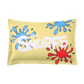 Painter Smurf Printed One Piece Yellow Bed Pillowcase