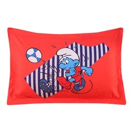 Soccer Smurf Stripes Printed One Piece Bed Pillowcase