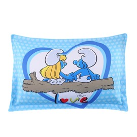 Smurfette in Love with Smurf Romantic One Piece Bed Pillowcase